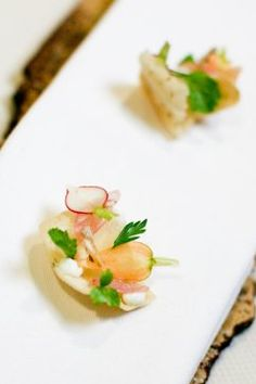 Canape: Aji escabeche at Meadowood's 12 Days of Christmas, Day 10: David Toutain of Agapé Substance in Paris