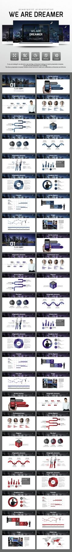 We Are Dreamer - PowerPoint Presentation Template #slides Download here…
