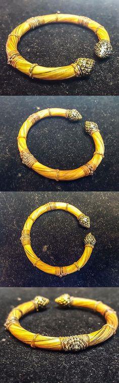 Bracelets 98480: Elephant Tail Hair Bracelet Amulet Blessing Black Ethnic Tribal African Style BUY IT NOW ONLY: $166.0