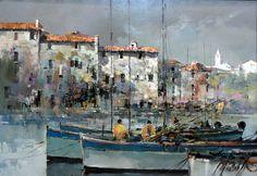 Branko Dimitrijevic, Fishermen, Oil on Canvas, 70x100cm, £1450