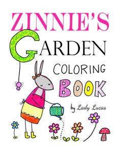 Zinnie's Garden Coloring Book for Adults or Kids $3.50