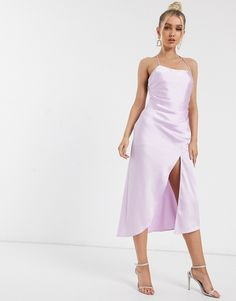 Buy Significant Other lucine satin midi slip dress at ASOS. With free delivery and return options (Ts&Cs apply), online shopping has never been so easy. Get the latest trends with ASOS now. Satin Violet, Silk Satin, Asos, World Of Fashion, Fashion Online, Robes Midi, Significant Other, Mi Long, Purple Dress