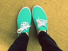 turquoise shoes are nice