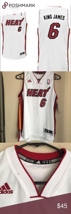474bea35ad6d adidas LeBron James Miami Heat King James jersey adidas LeBron James Miami  Heat King James Swingman Nickname Jersey - White in new condition never  worn.