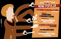 """""""Hoy, Menú popular"""" / Cartel creado por La Espora. 2014"""