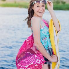 Summer things. Need a new beach bag? Our Mesh Sling bag is perfect for pool and beach days!  : @teach.shop.love