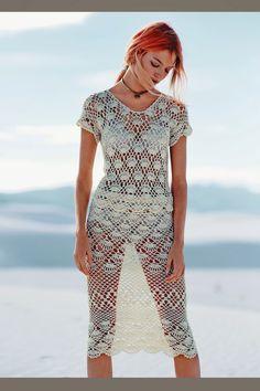 Crochetemoda: Blusa e Saia de Crochet