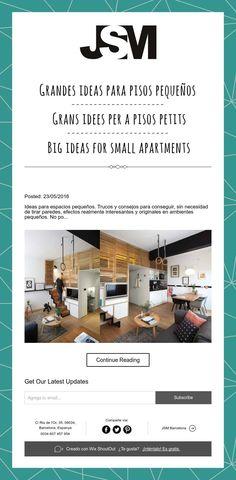 Grandes ideas para pisos pequeños / Grans idees per a pisos petits / Big ideas for small apartments