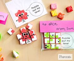 Give a unique #valentine with this playful puzzle greeting.