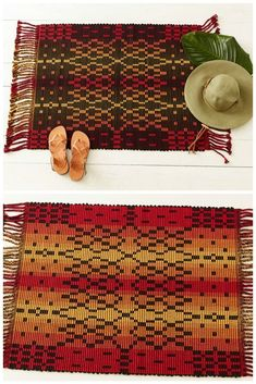 Here's Nancy Dunlap on her connection to music, weaving, and her Symphony No. 1 in Rep Minor (aka rep weave rug). Farmhouse Dining Room Table, Dining Room Table Decor, Musical Composition, Floor Decor, Diy Arts And Crafts, Woven Rug, Weave, Hand Weaving, Table Decorations