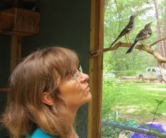 Eagle Rare Life - She is the bird whisperer.