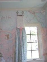Fabulous Window Treatments- a sweater with faux embroidered silk-too cute