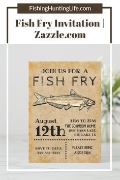 It's that time for a FISH FRY! Customize your fish fry invitation quickly and easily HERE! #fishfry #party #invite #invitation Fish Fry, Fried Fish, Catfish Fishing, Big Lake, Blue Cats, Colored Envelopes, Beautiful Textures, Envelope Liners, Vintage Paper