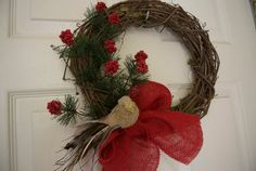 Christmas Wreath with Birds