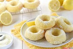 Lemon Sugar Baked Donuts Lemon Desserts, Just Desserts, Delicious Desserts, Dessert Recipes, Breakfast Recipes, Breakfast Ideas, Delicious Donuts, Breakfast Dishes, Dessert Ideas