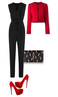 """Untitled #47"" by avisohanpal on Polyvore featuring Yves Saint Laurent, Christian Louboutin, Lanvin and Jaeger"