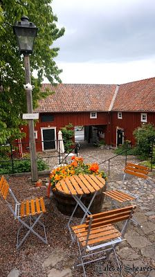 Gränna, Sweden: Cute cafe in an old square #talesofsheaves