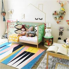 Super colourful kids room!