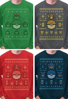 cute Pokémon Christmas sweaters