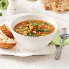 Soupe-repas aux légumes et lentilles - Je Cuisine