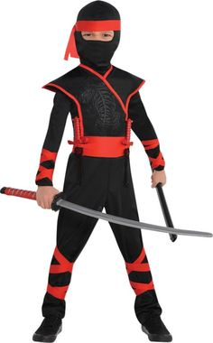 Toddler Boys Shadow Ninja Costume - Party City