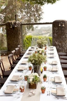 Lovely Table scape for a wedding or dinner party