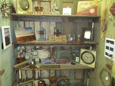 I love my rustic door display (and the stuff on the shelves too)!