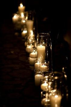 By candle light