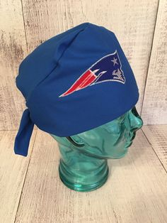 Custom embroidered patriots scrub cap/ Patriots by SewInBoutique