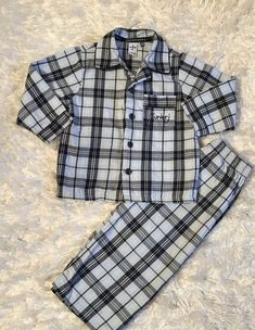 Adorable Jasper Conran Junior J Plaid 2pc Pajamas Pj's Sz 12-18 Mos Boutique    eBay