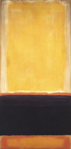 """Yellow, Charcoal, Brown,"" Mark Rothko."