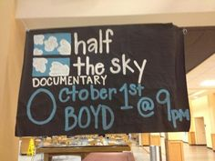 Half the Sky: Turning Oppression into Opportunity for Women Worldwide documentary poster at Virginia Wesleyan College. The documentary airs Oct. 1 and 2 at 9 p.m./8 p.m. CT on @PBS.