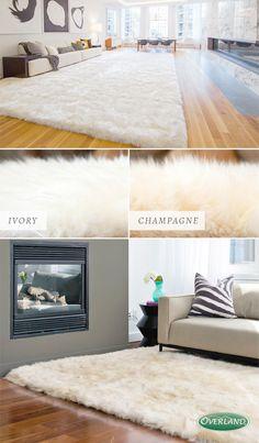 Genuine Australian sheepskin rugs add comfort to any room