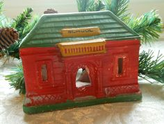 Chalk Village Houses  Vintage by Quilted Nest.