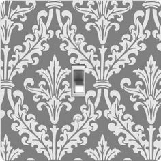 "Rikki KnightTM Grey Color Damask Design - Single Toggle Light Switch Cover by Rikki Knight. $13.99. Glossy Finish. For use on Walls (screws not included). Washable. Masonite Hardboard Material. 5""x 5""x 0.18"". The Grey Color Damask Design single toggle light switch cover is made of commercial vibrant quality masonite Hardboard that is cut into 5"" Square with 1'8"" thick material. The Beautiful Art Photo Reproduction is printed directly into the switch plate and not..."