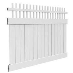 Veranda Potomac 6 ft. H x 8 ft. W White Vinyl Fence Panel Kit-73006455 - The Home Depot