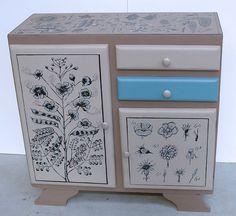 Valorisation créative sur du mobilier par Marie Goulard