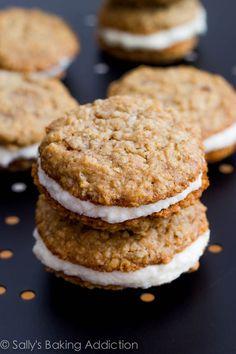 Oatmeal Creme Pies by sallysbakingaddiction.com