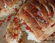 Pull Apart Pizza Bread Recipe with Mozzarella and Pepperoni