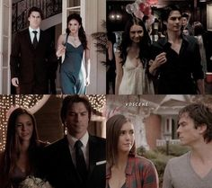 The Vampire Diaries: Elena & Damon through the seasons (season 1, 3, 6, & 8)