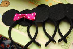DIY Mickey and Minnie Headbands!
