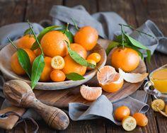 Цитрусовые фрукты, кумкват, древесных плит Обои - 1280x1024