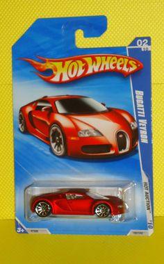 2010 HOT WHEELS HOT AUCTION #160 Bugatti Veyron - Satin Red