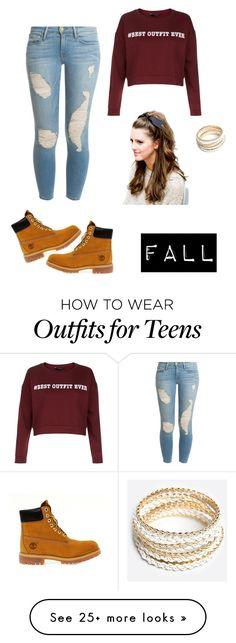 """fall essentials"" by j7nelleezsb on Polyvore featuring moda, Timberland, Frame Denim ve ZooShoo"