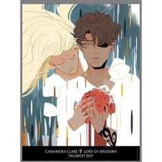 Julian Blackthorn and Emma Carstairs by aegisdea. The Dark Artifices. Cassandra Clare fan art