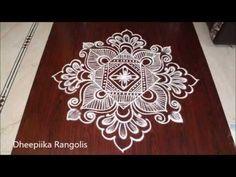Freehand rangoli designs without dots II simple muggulu rangoli designs II easy kolam designs - YouTube