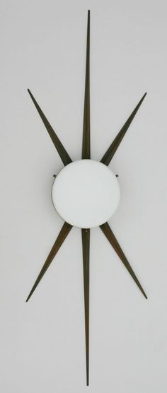 Gio Ponti Attributed; Bronze, Brass and Milk Glass Wall Light for Arredoluce, c1950.