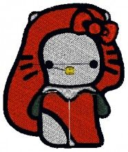Marilyn Kitty Embroidery Design brother pe-150 embroidery machine cards