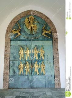 Decorative Door At Abbey Of St. Maurice Stock Photo - Image of martyrs, double: 105722154