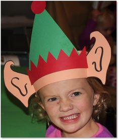 Elf Ears - All kiddos will love being elves! Have your students write a letter to Santa telling why they would make a good elf. Preschool Christmas, Christmas Activities, Christmas Crafts For Kids, Christmas Projects, Preschool Crafts, Childrens Christmas, Christmas Party Hats, Christmas Concert, Holiday Fun